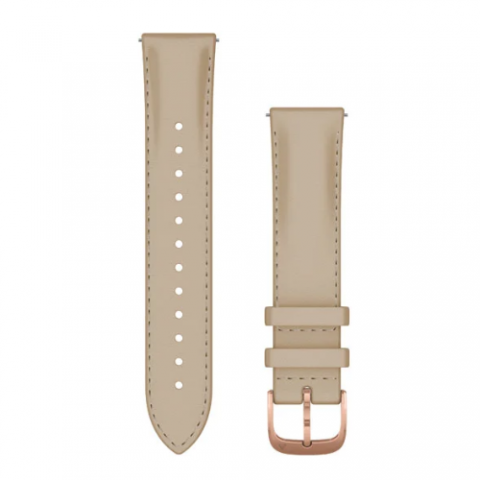 Tan Italian Leather with Silver Hardware
